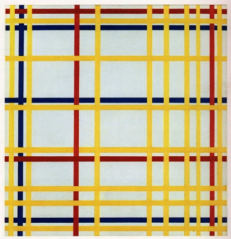 New York City I by Piet Mondrian