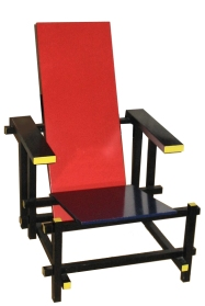 Red and Blue Chair designed by Gerrit Rietveld in 1917
